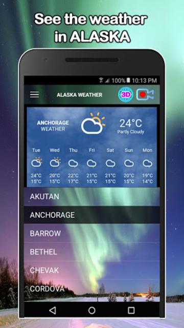 Alaska Weather and Live cams screenshot 1