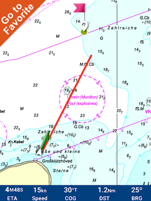 FlyToMap All in One GPS Charts Marine and Lakes screenshot 21