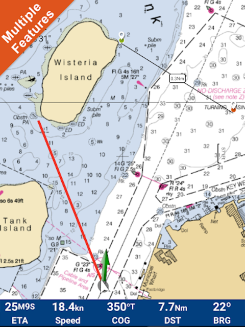 Marine Florida GPS Nautical Charts screenshot 9
