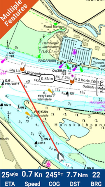 Hamburg - West Germany GPS Map screenshot 1