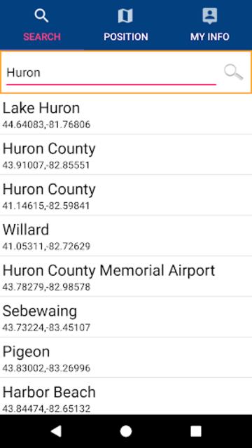 Huron Erie Ontario Lakes GPS Map Navigator screenshot 2
