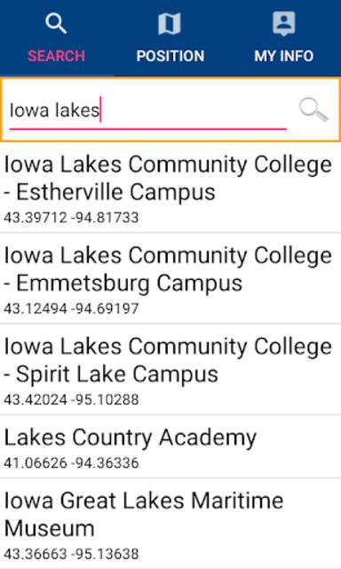 IOWA Lakes GPS Nautical Charts screenshot 2