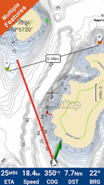 Lake Norman GPS Offline Fishing Charts Navigator screenshot 1