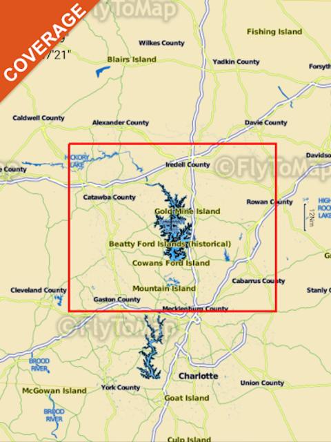 Lake Norman GPS Offline Fishing Charts Navigator screenshot 15