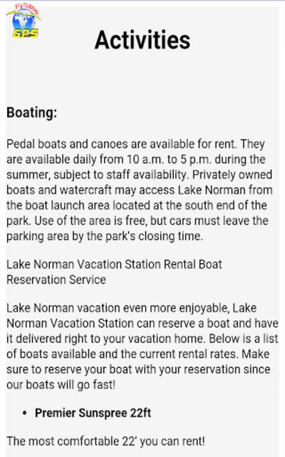 Lake Norman GPS Offline Fishing Charts Navigator screenshot 19