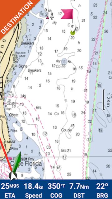 Lake Norman GPS Offline Fishing Charts Navigator screenshot 2