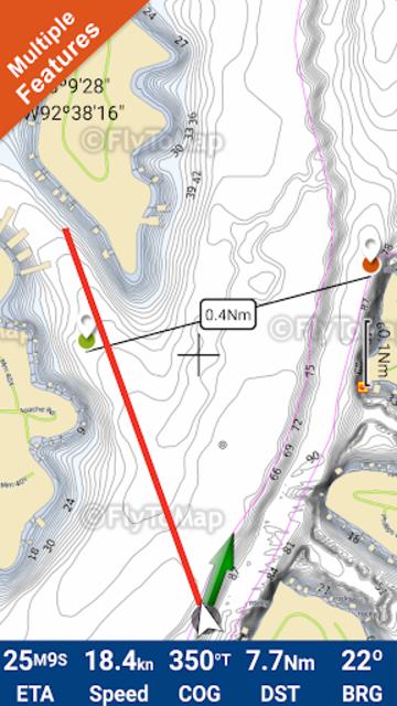Lake of the Ozarks GPS Offline Fishing Charts screenshot 1
