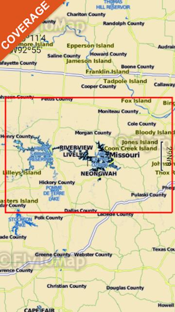 Lake of the Ozarks GPS Offline Fishing Charts screenshot 8