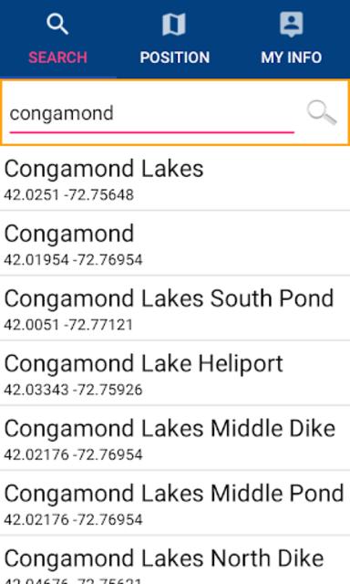 Congamond Lakes - Massachusetts GPS Map Navigator screenshot 7