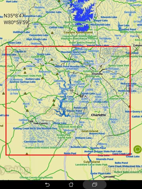 Lake Wylie GPS Offline Fishing Chart screenshot 16