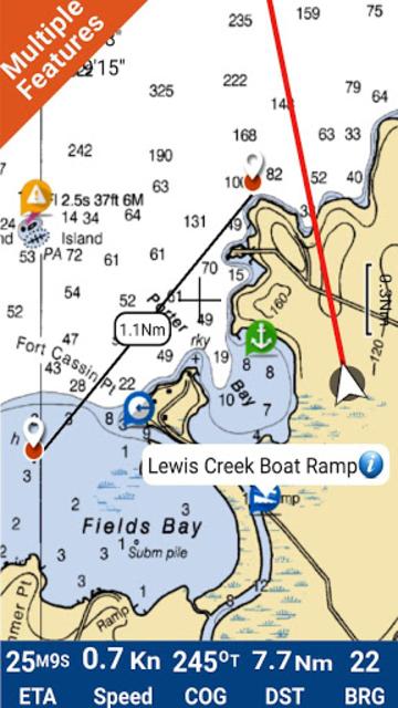 Lake Wylie GPS Offline Fishing Chart screenshot 1