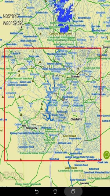 Lake Wylie GPS Offline Fishing Chart screenshot 8