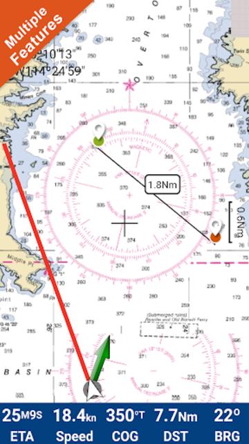 Lake Mead Map GPS Offline Fishing Charts Navigator screenshot 1