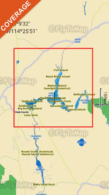 Lake Mead Map GPS Offline Fishing Charts Navigator screenshot 8