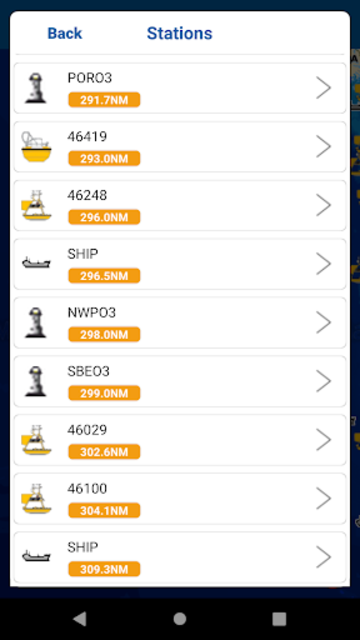 NOAA Buoys Stations & Ships with GPS Tides & Wind screenshot 6
