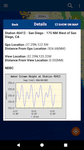 NOAA Buoys Stations & Ships with GPS Tides & Wind screenshot 2