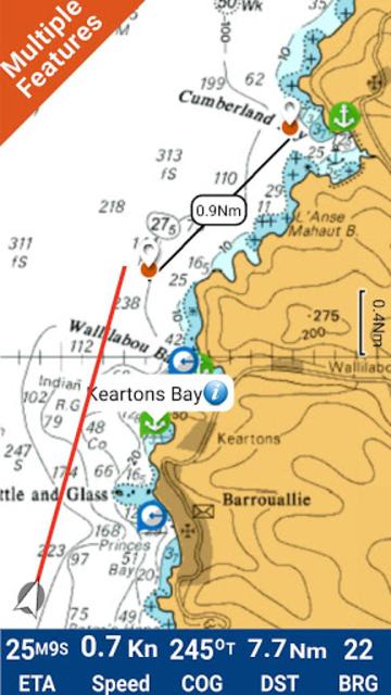Saint Vincent GPS Nautical and Fishing Charts screenshot 1