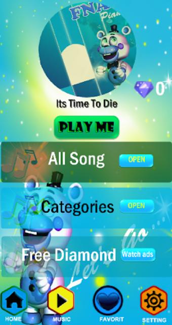 Fnaf - Piano Tiles screenshot 1