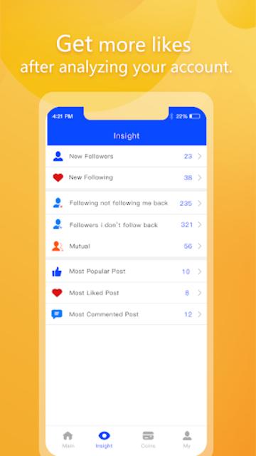 1000 Followers - Get Likes Insight screenshot 2