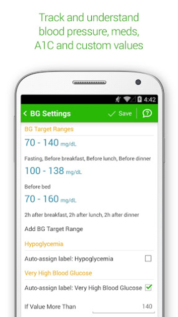 Diabetes & Diet Tracker screenshot 8
