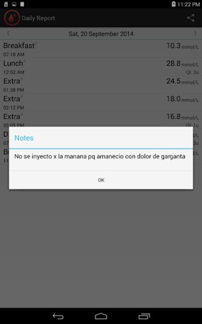 Glucemia Register screenshot 8