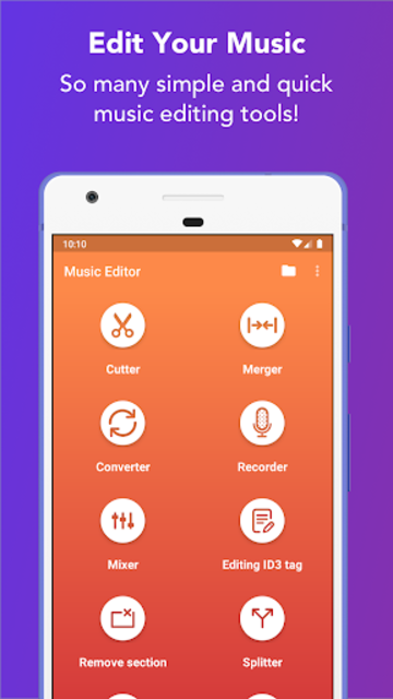 Music Editor - MP3 Cutter and Ringtone Maker screenshot 1