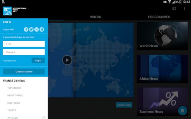FRANCE 24 - Live international news 24/7 screenshot 13