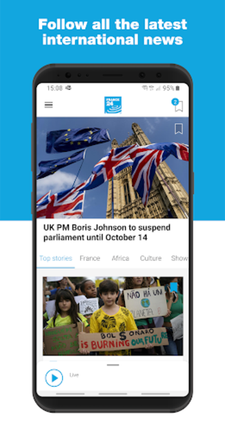 FRANCE 24 - Live international news 24/7 screenshot 1