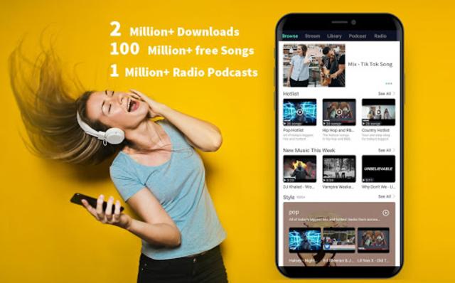 Free Music Player- Offline Music | Radio | Podcast screenshot 1