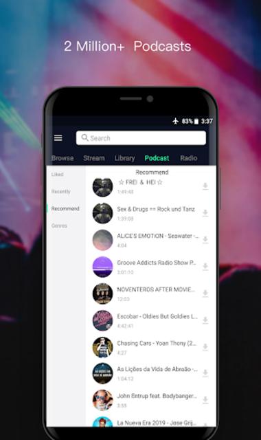 Free Music Player- Offline Music   Radio   Podcast screenshot 6