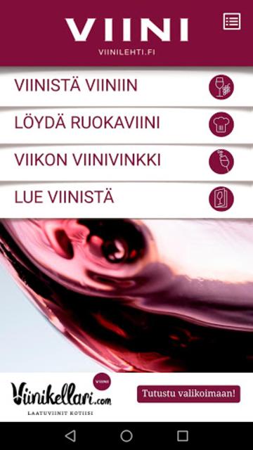 Viinistä viiniin screenshot 2