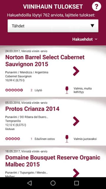 Viinistä viiniin screenshot 6