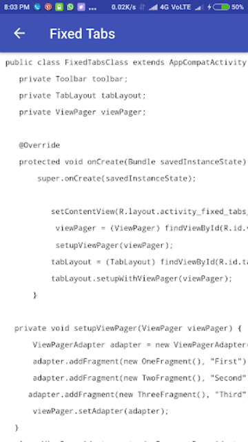 Freecode Android Tutorial with code. Learn Android screenshot 2