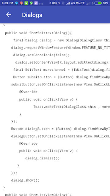 Freecode Android Tutorial with code. Learn Android screenshot 6