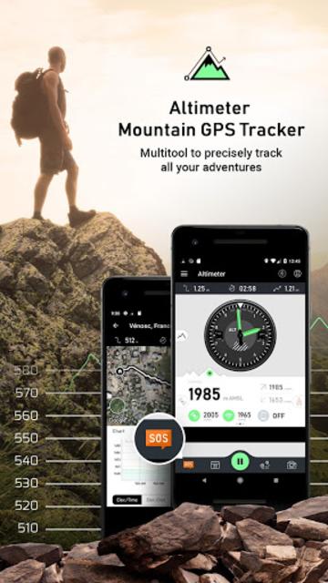 Altimeter - Mountain GPS Tracker screenshot 1