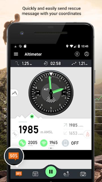Altimeter - Mountain GPS Tracker screenshot 3