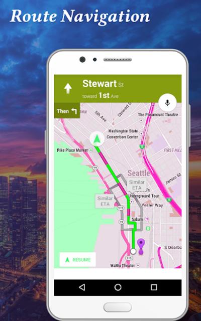 GPS Satellite & Live Navigation Route Map screenshot 3