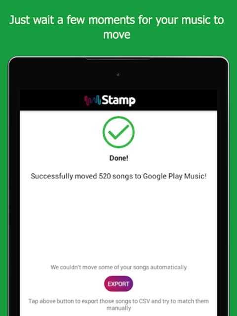 STAMP: Music Importer Transfer Your Playlists screenshot 10