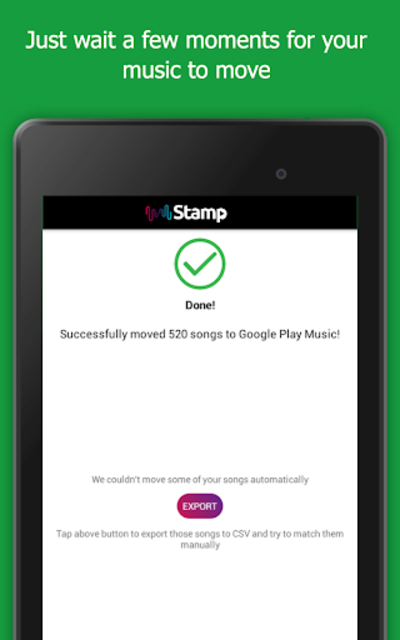 STAMP: Music Importer Transfer Your Playlists screenshot 15