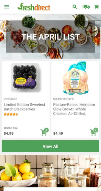 FreshDirect: Grocery, Food & Alcohol Delivery screenshot 2