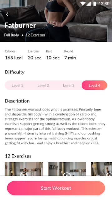 WeBurn: Women Home Workouts, Fitness Plan & Coach screenshot 4