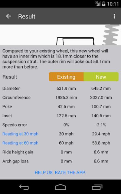 Tire Size Calculator screenshot 7