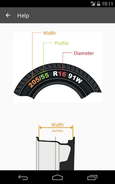 Tire Size Calculator screenshot 8