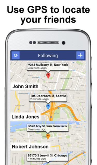 PhoneTracker with FriendMapper screenshot 1