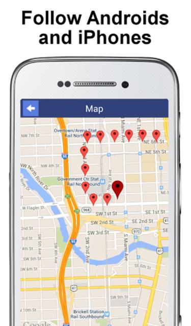 PhoneTracker with FriendMapper screenshot 2