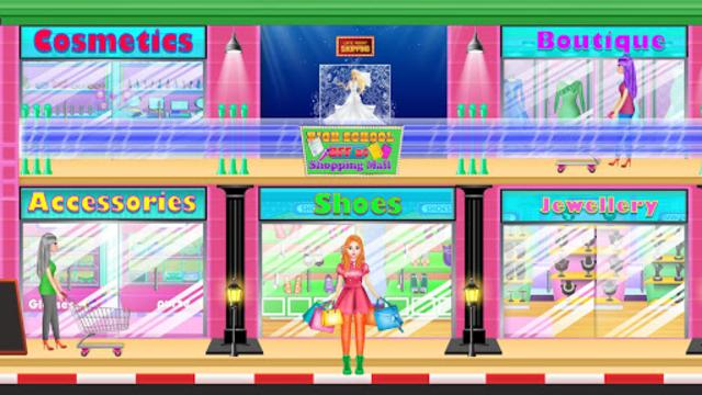 High School BFF At Shopping Mall: Clothing Spree screenshot 4