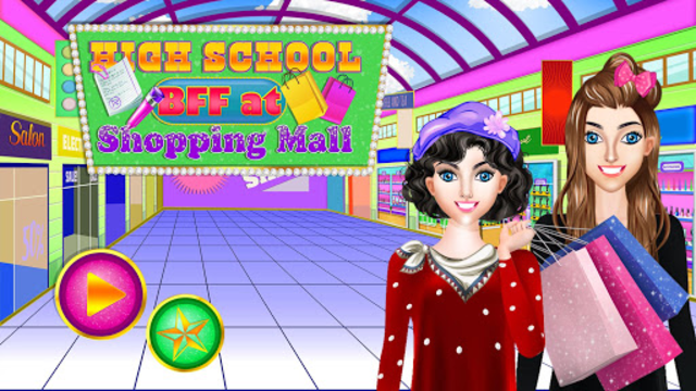 High School BFF At Shopping Mall: Clothing Spree screenshot 5