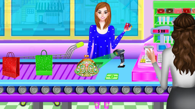 High School BFF At Shopping Mall: Clothing Spree screenshot 7