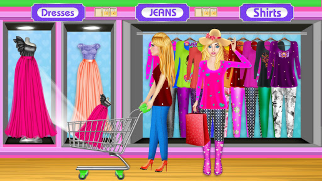 High School BFF At Shopping Mall: Clothing Spree screenshot 8