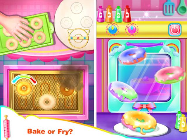 Cook Donut Maker - Unicorn Food Baking Games screenshot 5